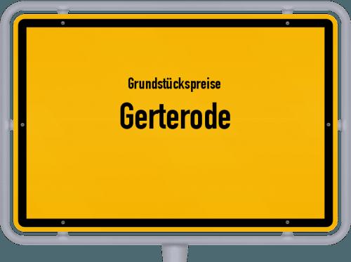 Grundstückspreise Gerterode 2019