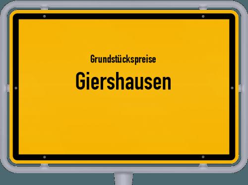 Grundstückspreise Giershausen 2019