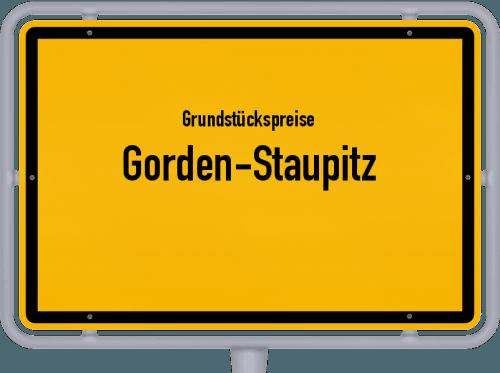 Grundstückspreise Gorden-Staupitz 2021