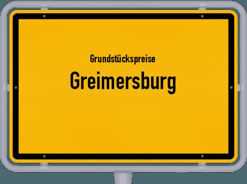 Grundstückspreise Greimersburg 2019