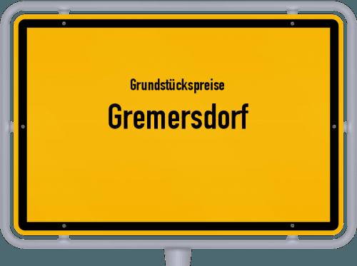 Grundstückspreise Gremersdorf 2021