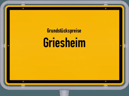 Grundstückspreise Griesheim 2020