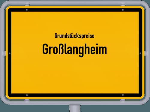 Grundstückspreise Großlangheim 2019