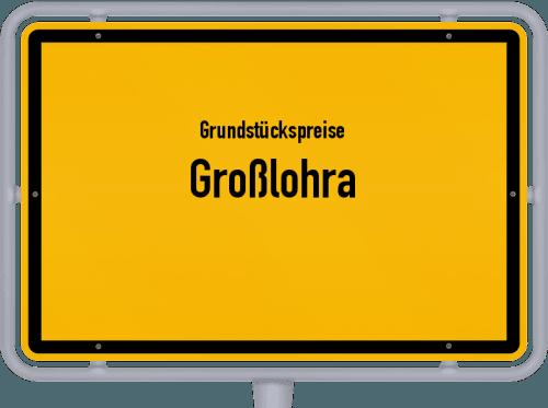 Grundstückspreise Großlohra 2019
