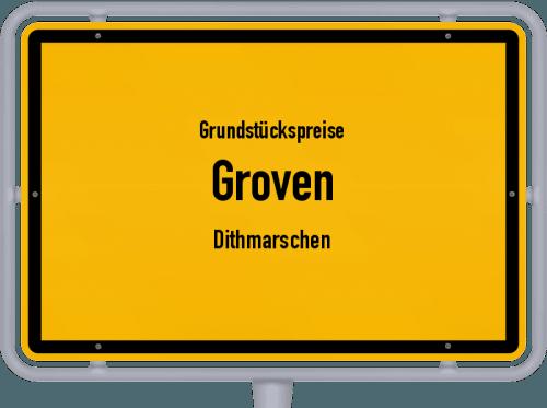 Grundstückspreise Groven (Dithmarschen) 2021