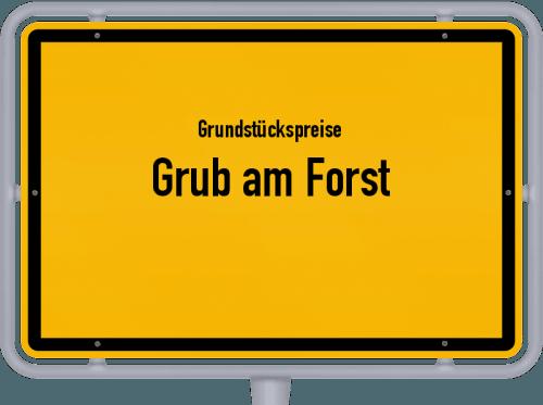 Grundstückspreise Grub am Forst 2021