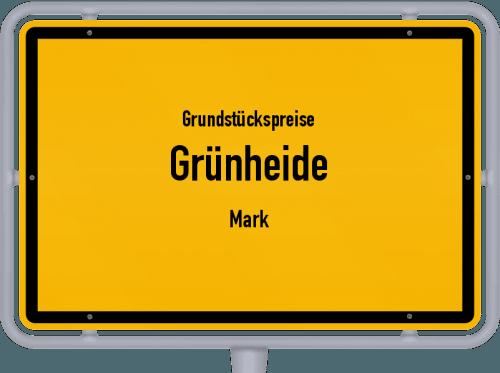 Grundstückspreise Grünheide (Mark) 2021