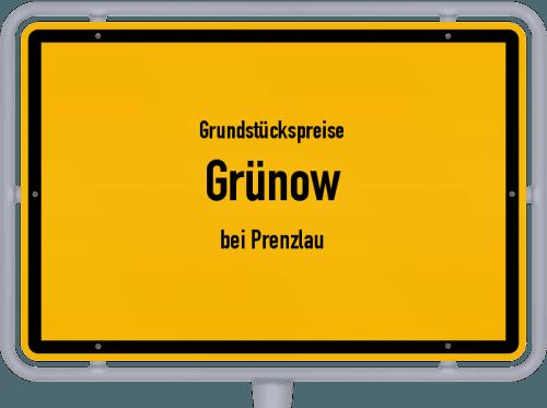 Grundstückspreise Grünow (bei Prenzlau) 2021
