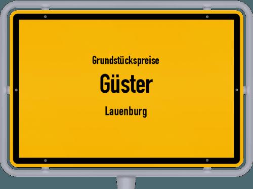 Grundstückspreise Güster (Lauenburg) 2021