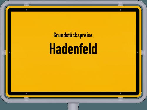 Grundstückspreise Hadenfeld 2021