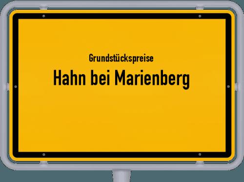 Grundstückspreise Hahn bei Marienberg 2019