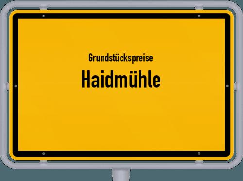 Grundstückspreise Haidmühle 2019