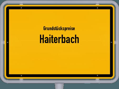 Grundstückspreise Haiterbach 2021