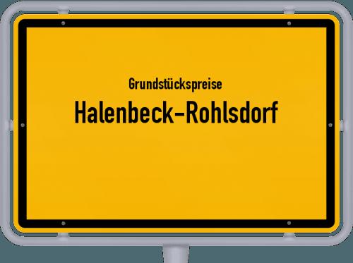 Grundstückspreise Halenbeck-Rohlsdorf 2021