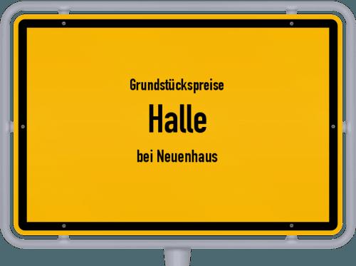 Grundstückspreise Halle (bei Neuenhaus) 2021