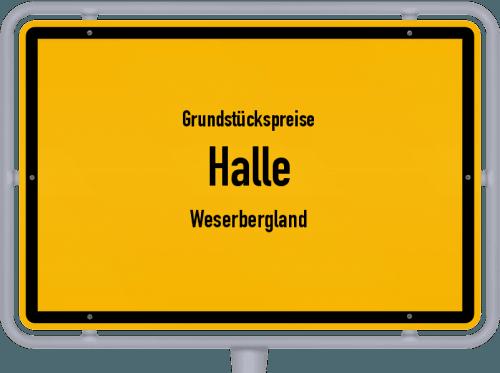 Grundstückspreise Halle (Weserbergland) 2019