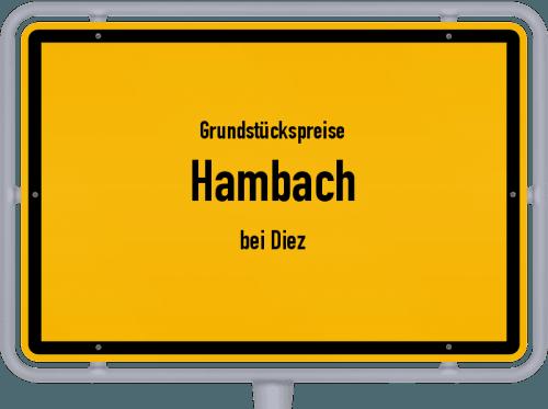 Grundstückspreise Hambach (bei Diez) 2019