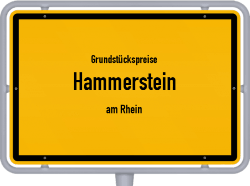 Grundstückspreise Hammerstein (am Rhein) 2019