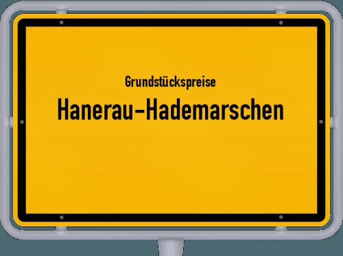 Grundstückspreise Hanerau-Hademarschen 2021