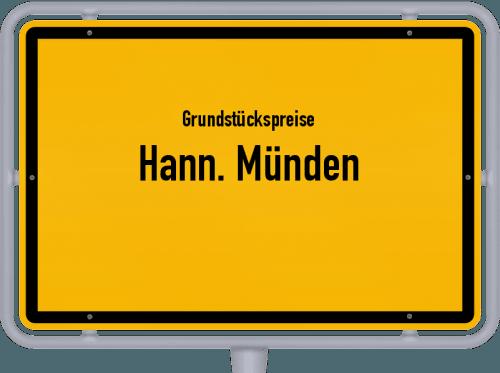 Grundstückspreise Hann. Münden 2021