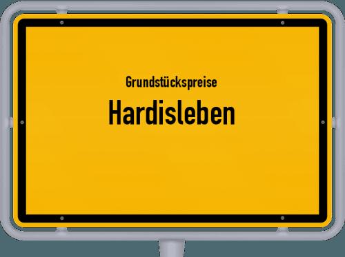 Grundstückspreise Hardisleben 2019