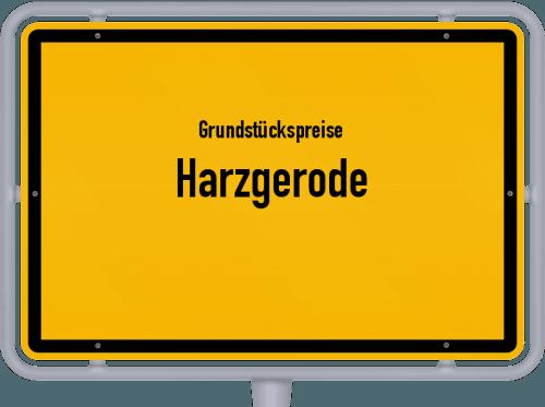 Grundstückspreise Harzgerode 2021