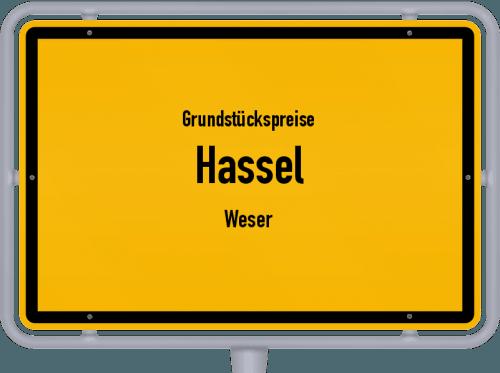 Grundstückspreise Hassel (Weser) 2019