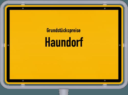 Grundstückspreise Haundorf 2021