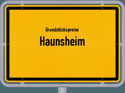 Grundstückspreise Haunsheim 2019