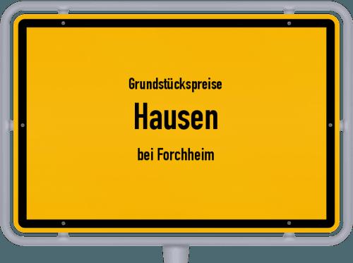 Grundstückspreise Hausen (bei Forchheim) 2019