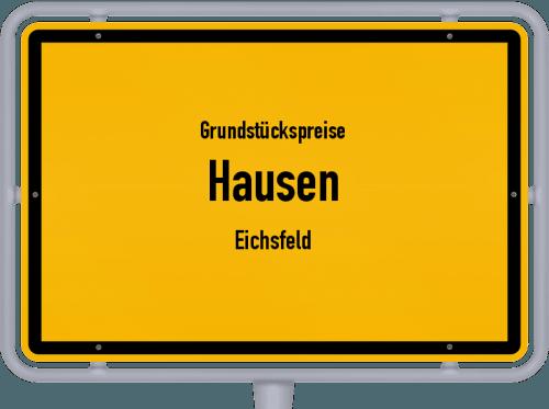 Grundstückspreise Hausen (Eichsfeld) 2019