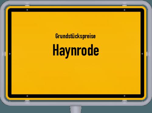 Grundstückspreise Haynrode 2019