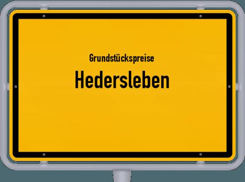 Grundstückspreise Hedersleben 2021