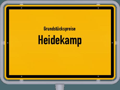 Grundstückspreise Heidekamp 2021