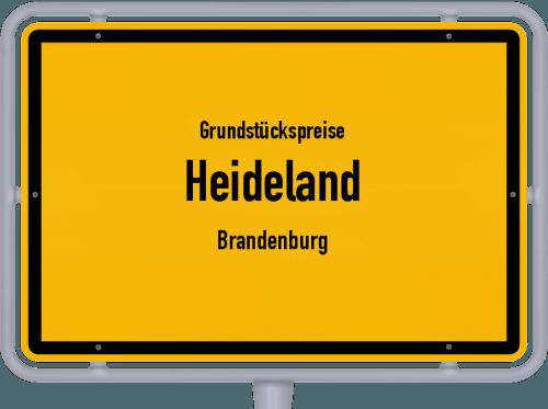 Grundstückspreise Heideland (Brandenburg) 2021