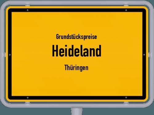 Grundstückspreise Heideland (Thüringen) 2019
