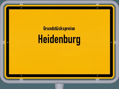 Grundstückspreise Heidenburg 2019