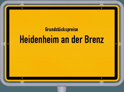 Grundstückspreise Heidenheim an der Brenz 2021