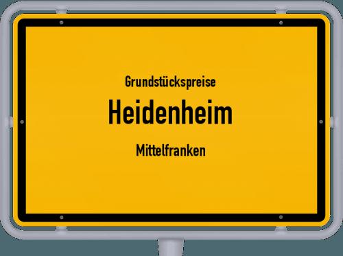 Grundstückspreise Heidenheim (Mittelfranken) 2019