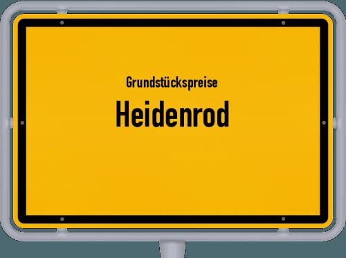 Grundstückspreise Heidenrod 2019