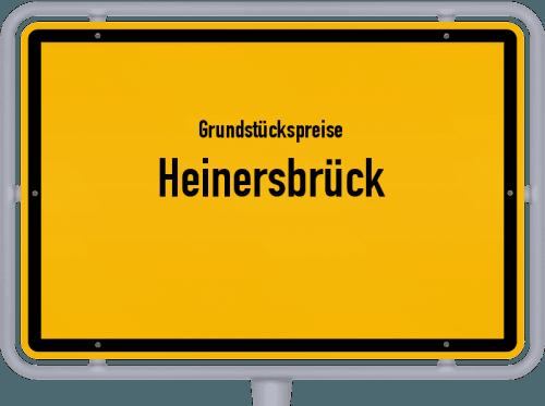 Grundstückspreise Heinersbrück 2021