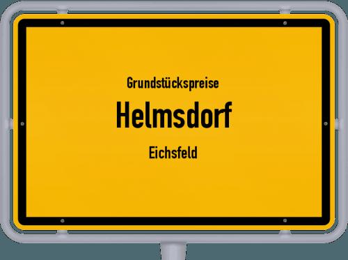 Grundstückspreise Helmsdorf (Eichsfeld) 2019