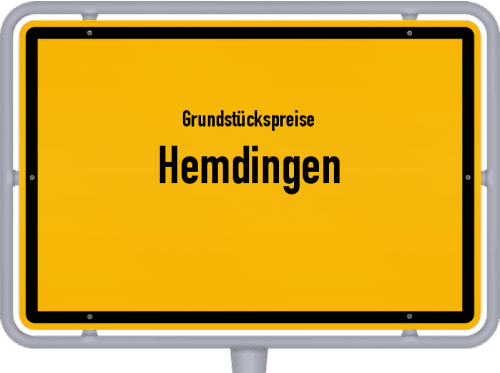 Grundstückspreise Hemdingen 2021