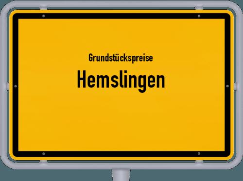 Grundstückspreise Hemslingen 2021