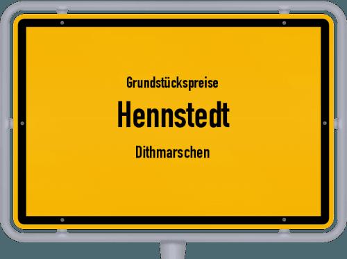 Grundstückspreise Hennstedt (Dithmarschen) 2021