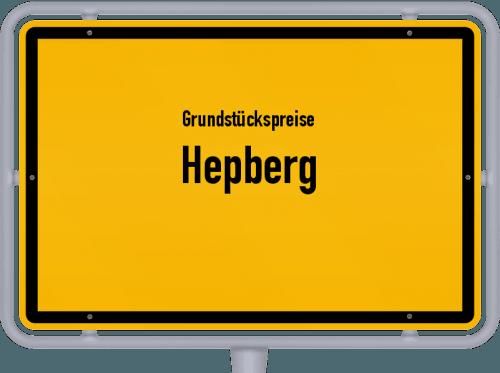 Grundstückspreise Hepberg 2021