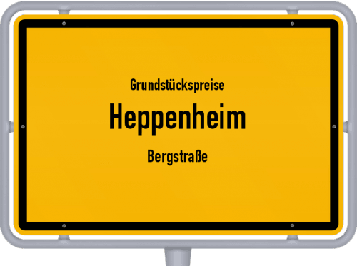 Grundstückspreise Heppenheim (Bergstraße) 2020