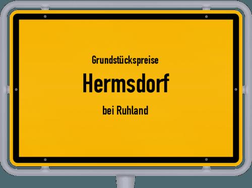 Grundstückspreise Hermsdorf (bei Ruhland) 2021