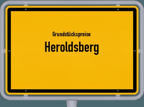 Grundstückspreise Heroldsberg 2019