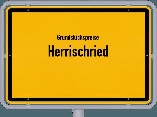 Grundstückspreise Herrischried 2021